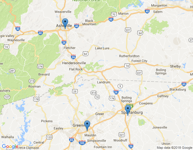 Map of Asheville Showroom